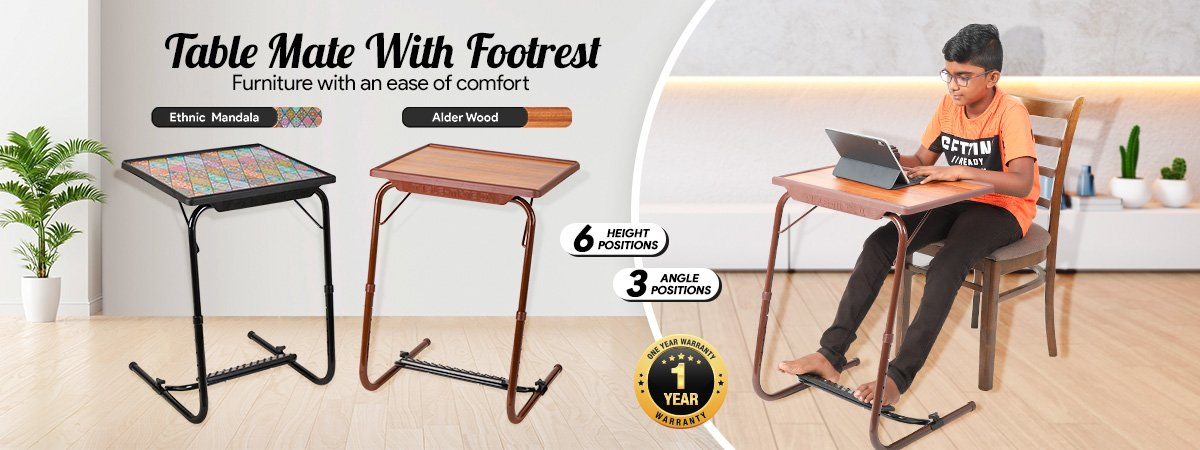 Table Mate With Footrest - Premium
